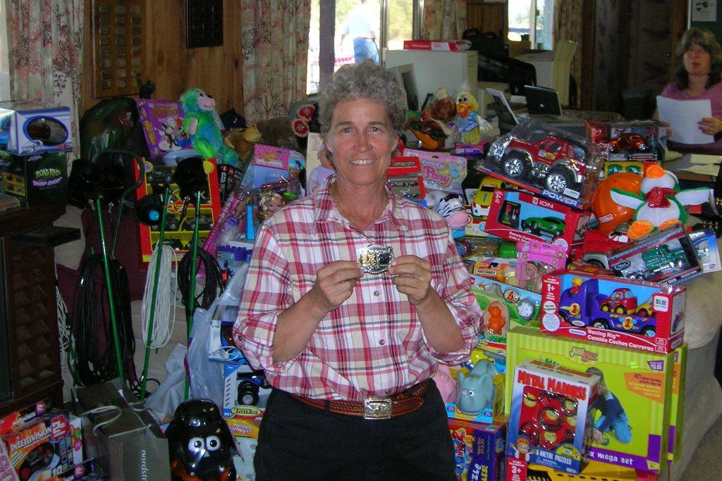 Karen Beckman at Redding Gun Club Toys for Tots shoot 2006