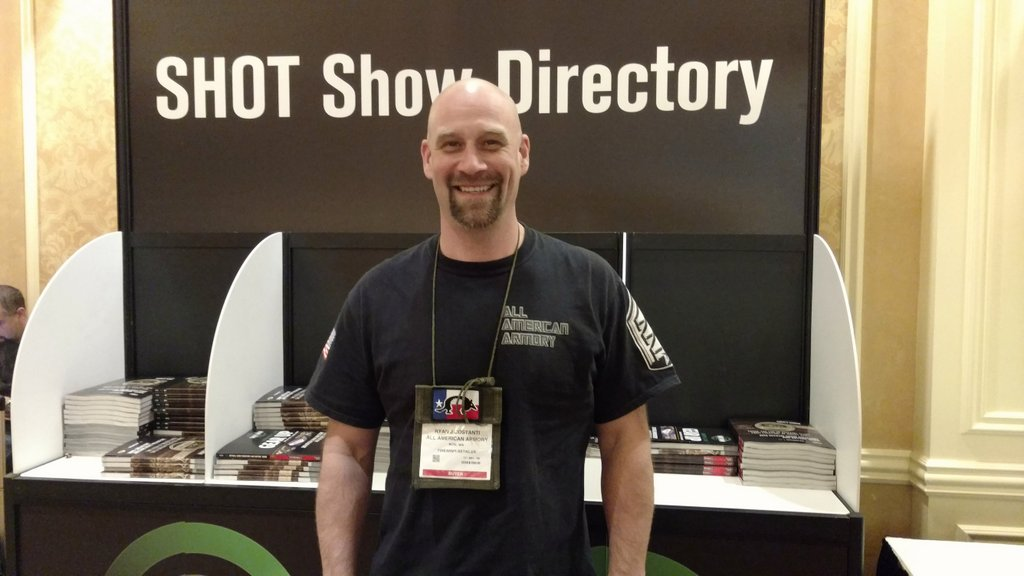 Grand Pacific sponsor Ryan Costanti of All American Armory - SHOT Show 2016