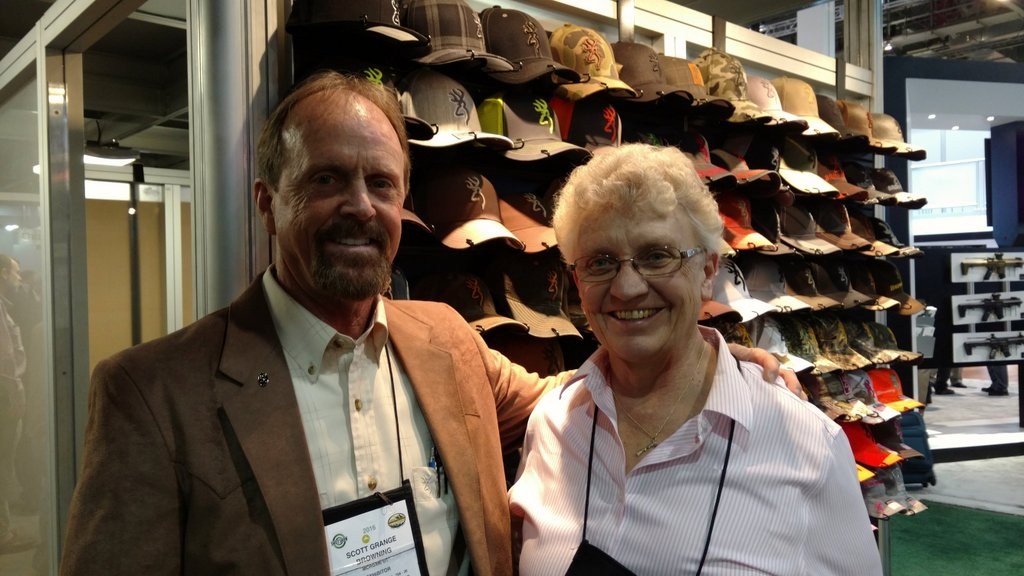 Grand Pacific sponsor Scott Grange of Browning with Nadene at SHOT Show 2016