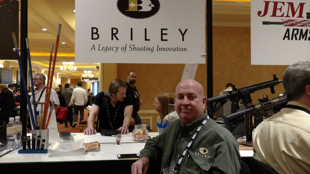 Grand Pacific sponsor Steve from Briley at SHOT Show 2016