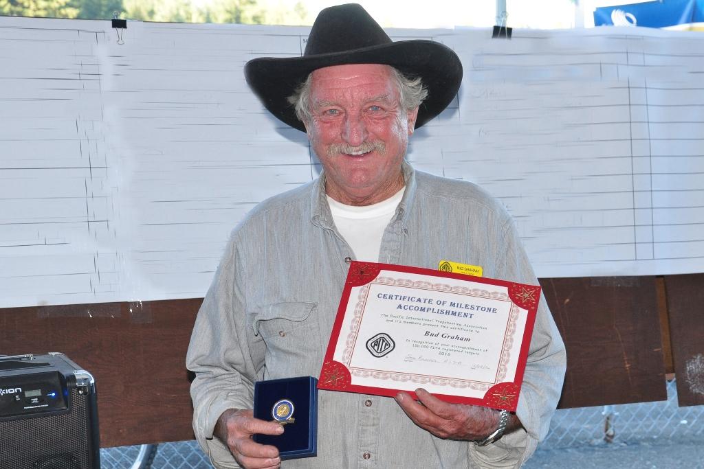 Bud Graham receives 150,000 pin at Grand Pacific