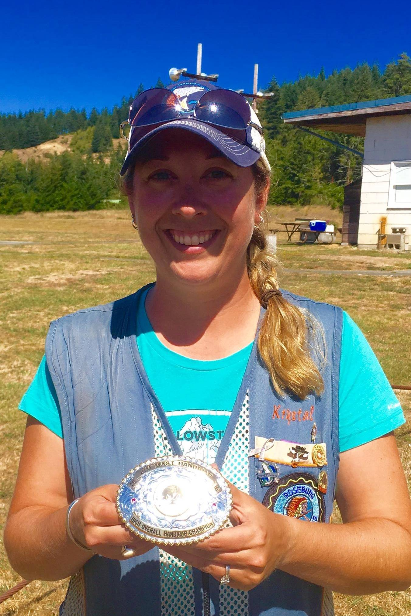 Krys Schindler wins Jim Mast buckle at Myrtle Point-1st time win by a female shooter