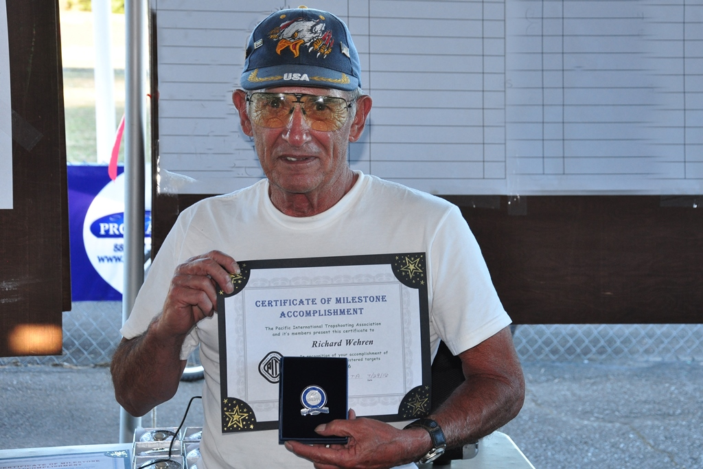 Richard Wehren 100,000 target milestone