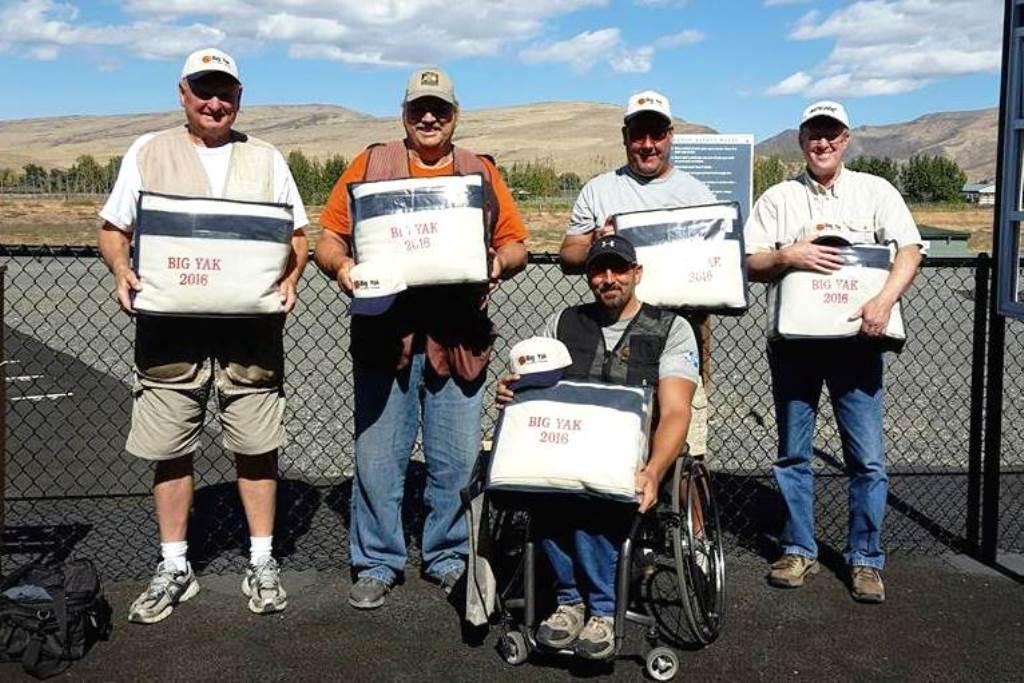 Big Yak blanket winners-Marion Dukes, Lee  Bailey, Tim Plagman, Tim Hodges and Bill Loyd