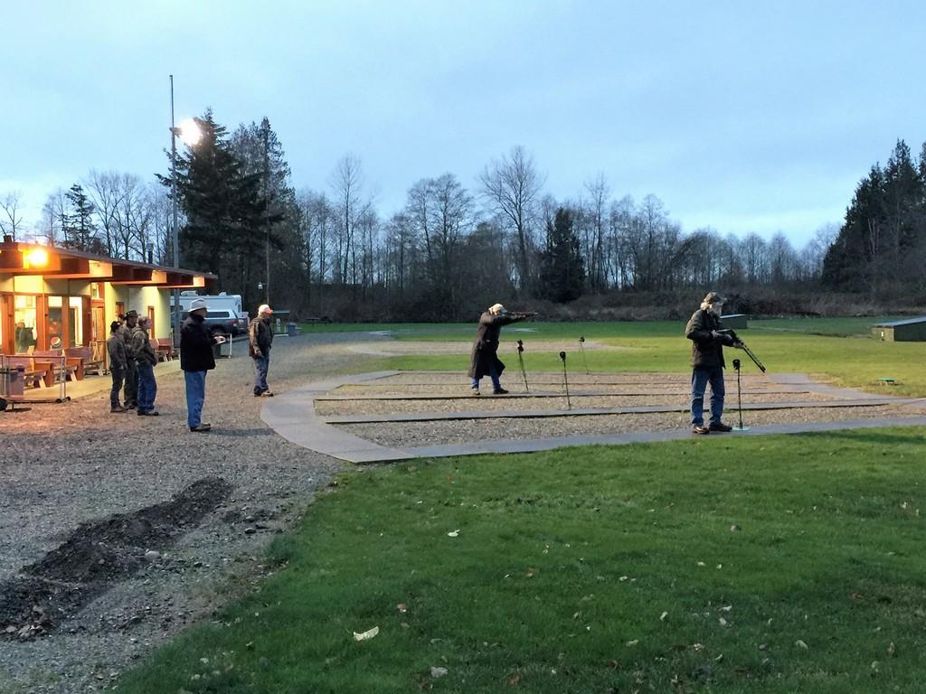 Handicap shoot off Old Skagit - Wayne Burns and Tom Rock