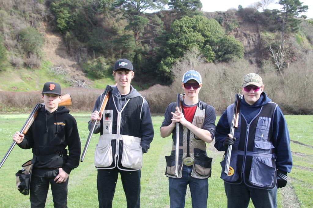 Nicolas, Merrit, Dalton and Ethan at Eel River Trap Club