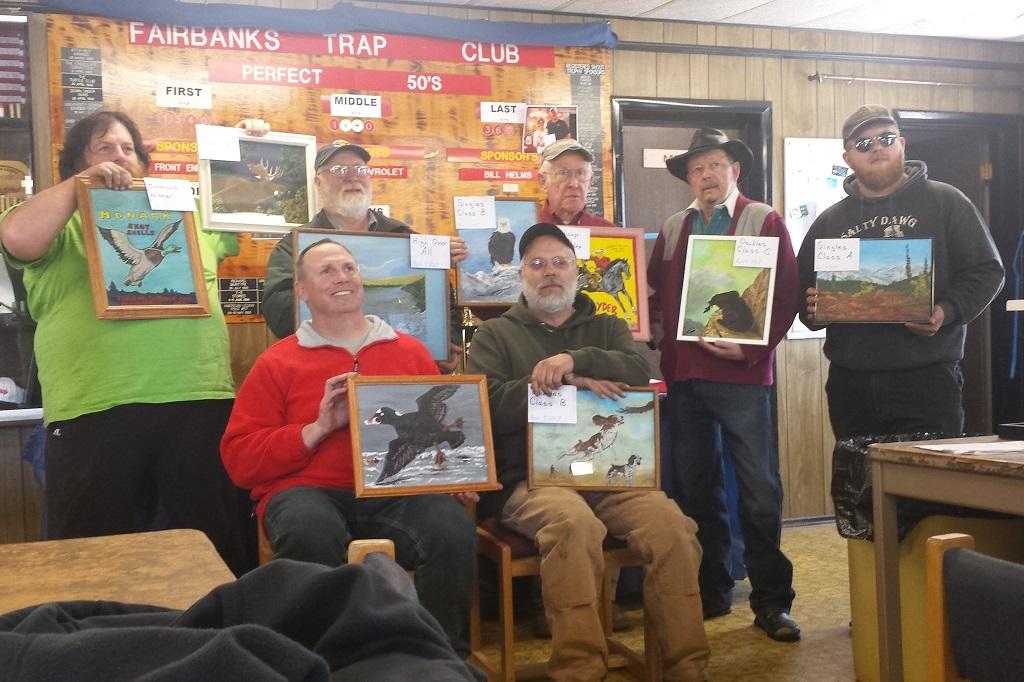 Fairbanks Trap Club winners - 1st shoot of 2017