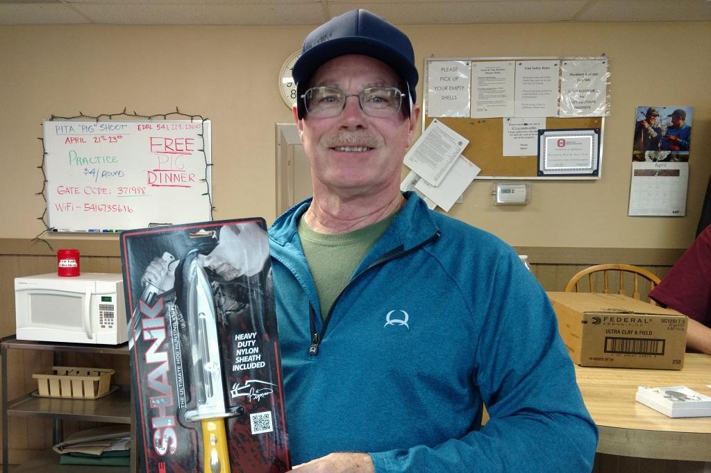 Mike White Handicap Champion at Roseburg Pig Shoot
