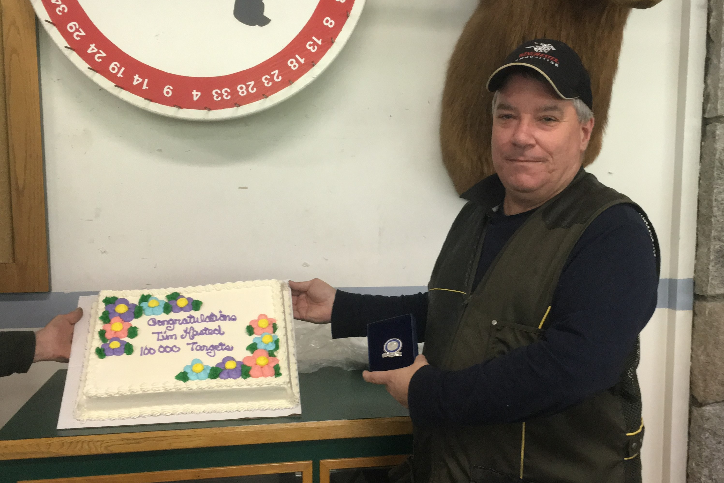 Tim Hasted received his 100,000 pin at SVIR