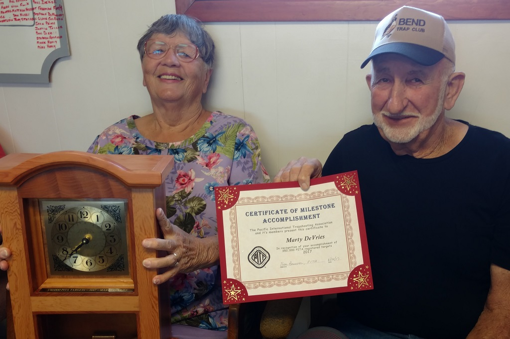 Marty and Glady with his 350,000 milestone award