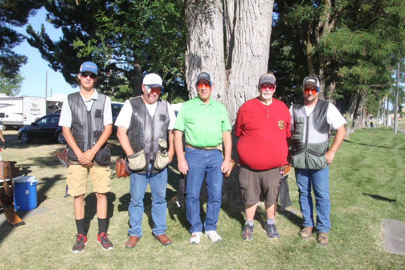125 Club shot at the 2017 Grand Pacific at Spokane Gun Club. Michael Sargent, Dave Kelly, Mike Rinnard, Rod Island and Glen Jager