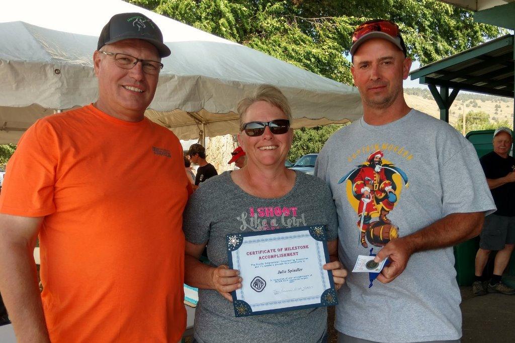 Julie Spindler receives her 50000 target award