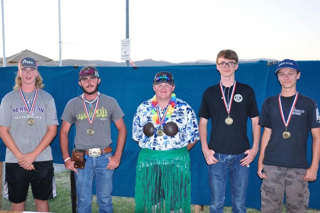 Y-E-S team winners including the 'Best Hawaiian Attire' winner