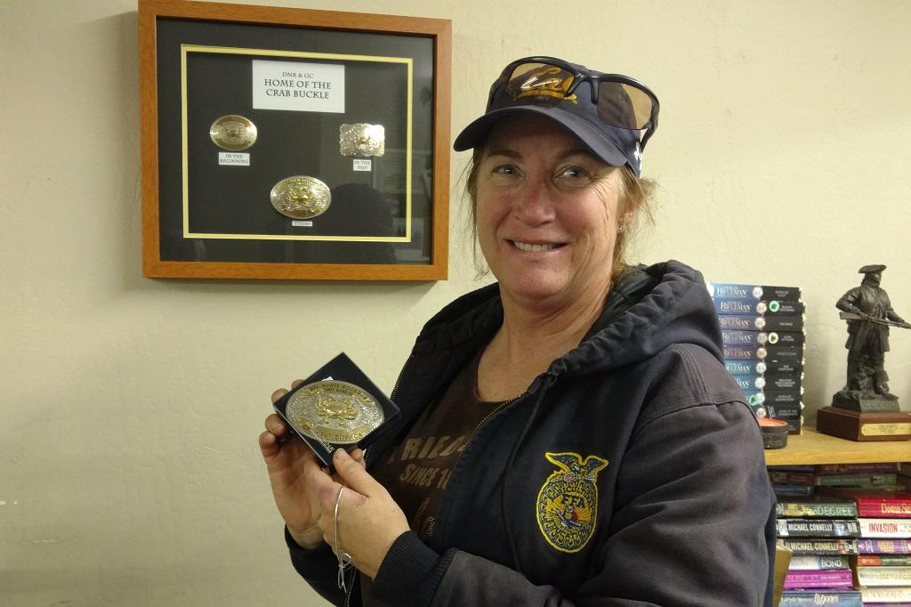 Ann Cavanaugh - 1st time Crab Buckle winner