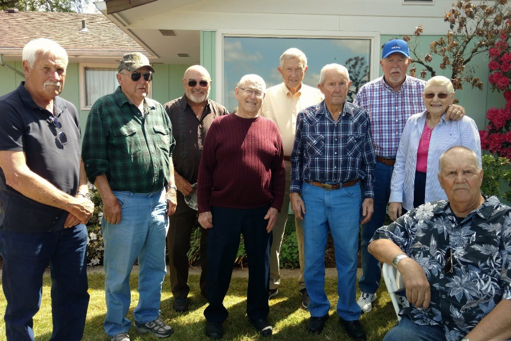 Trapshooters at Bob Bounds 90th birthday party.