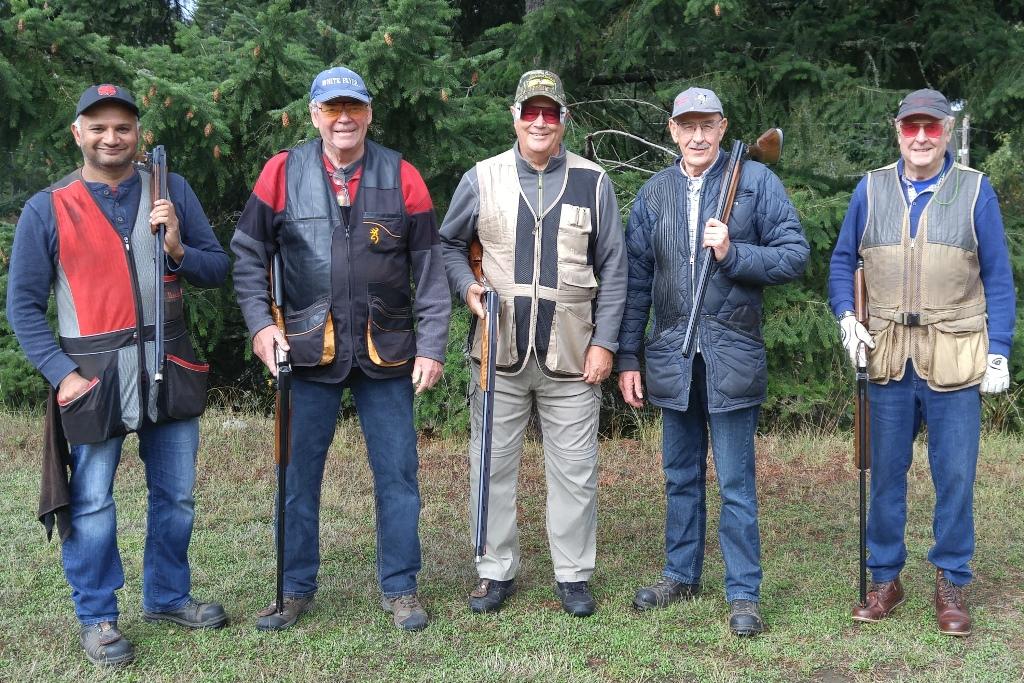 125 Club-Gurj Gakhal, John Duncan, Ron Stubbings, Darryl Webber and Gil Johnson-Victoria Sept 15, 2018