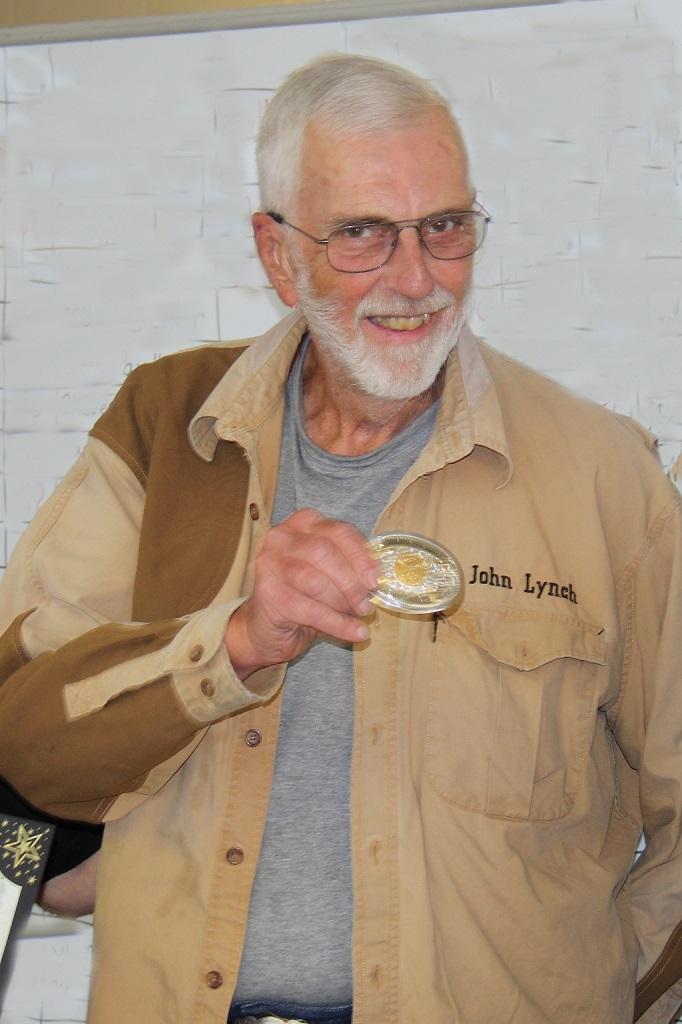 John Lynch receives his 300,000 target award at Medford