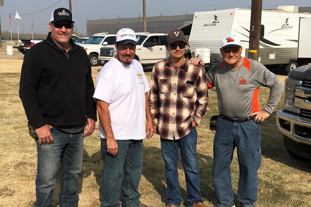 Bryan Weeks, Gary Bonetti, Chayton Vega and Weldon Birch at Newman Swamp Rats