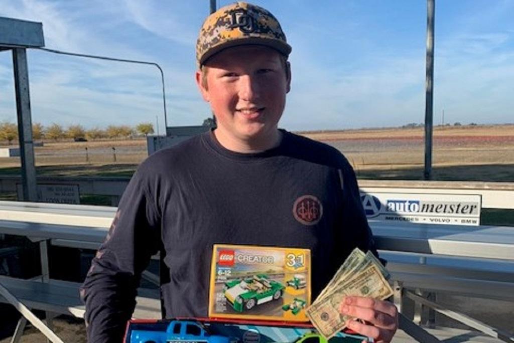 Devin Huguenot Jr winner at Coon Creek Toys for Tots