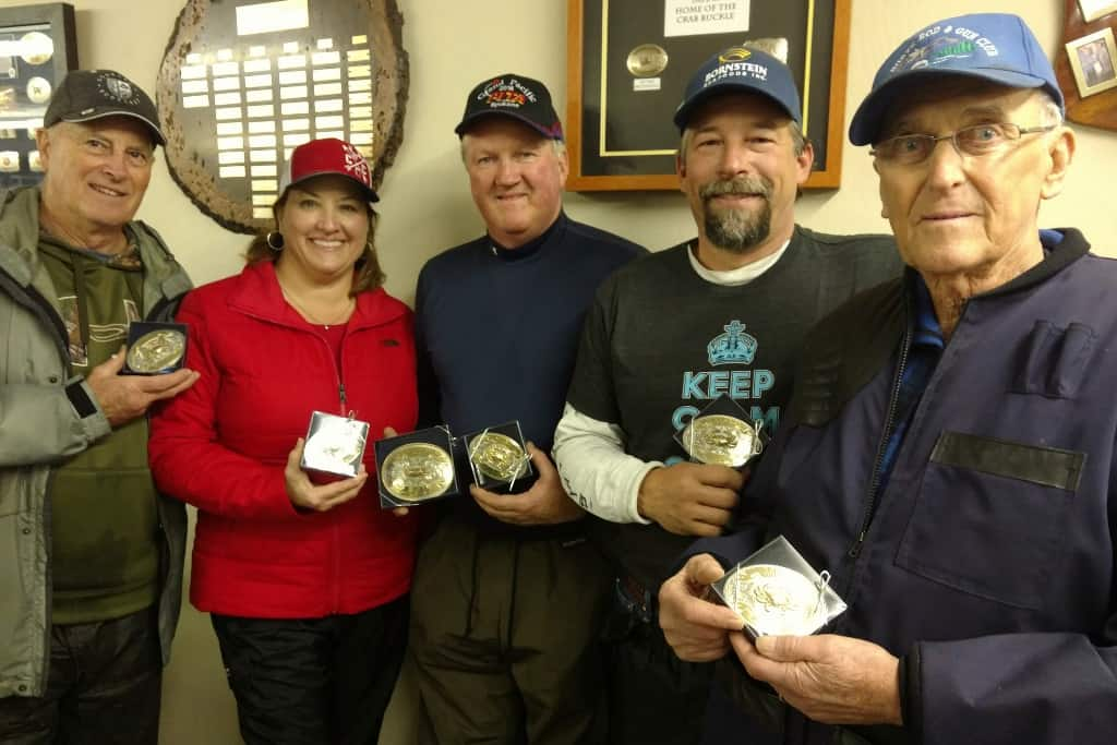 Tom, Tammy, Mac, Bret and Bud from Del Norte area-all buckle winners