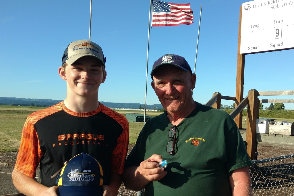Sam and Mike Healy receive awards at OR State Shoot