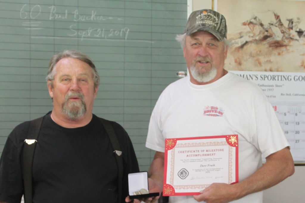 Billy presents Dave Fruth his 250,000 target milestone