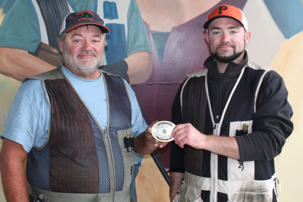 Jason Klingele (right) wins shoot off over John Klingele for long yard at Big Yak