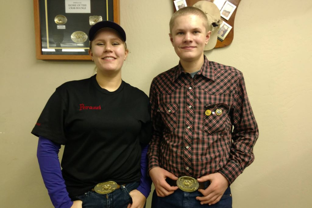 Alexis and Rylan Pickens win at Crab Buckle