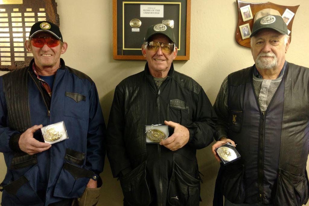 Bill Roseboom, Jerry Broten and Bob White - Del Norte buckle winners