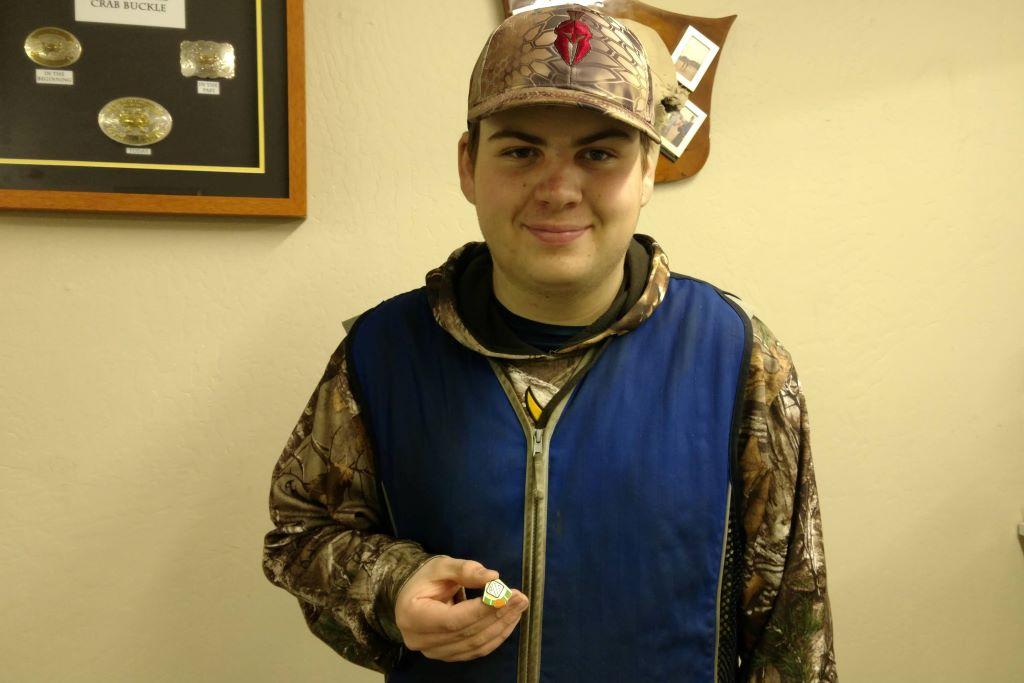Eli Tollefson wins Crab Buckle and earns his AA27AA pin