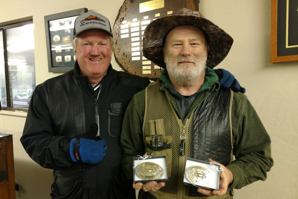 Fred Hoven receives Crab Buckle from Mac