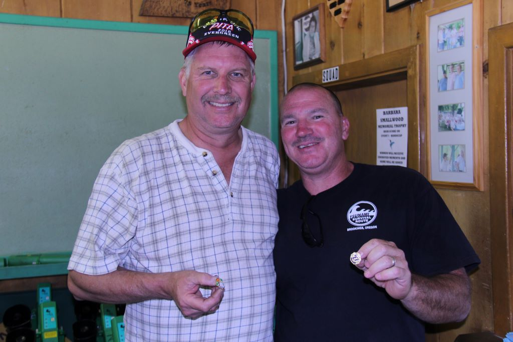 Mark (left) earned his AA27AA pin and Travis (right) earned his 27 yd pin - 2015