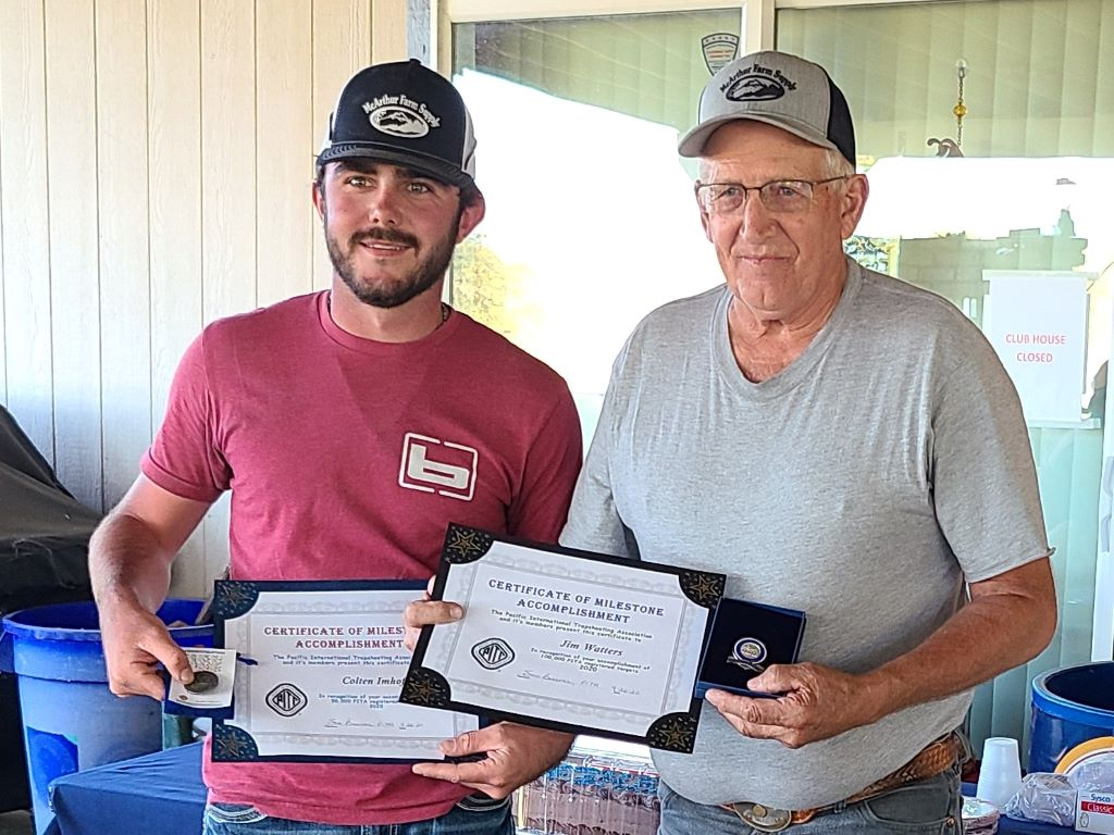 Colten and Jim receive their milestone awards - 50,000 and  100,000