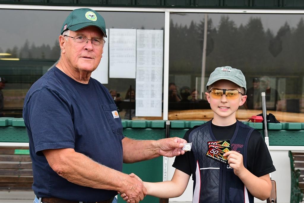 Ron presents Thomas his 1st 100 straight awards
