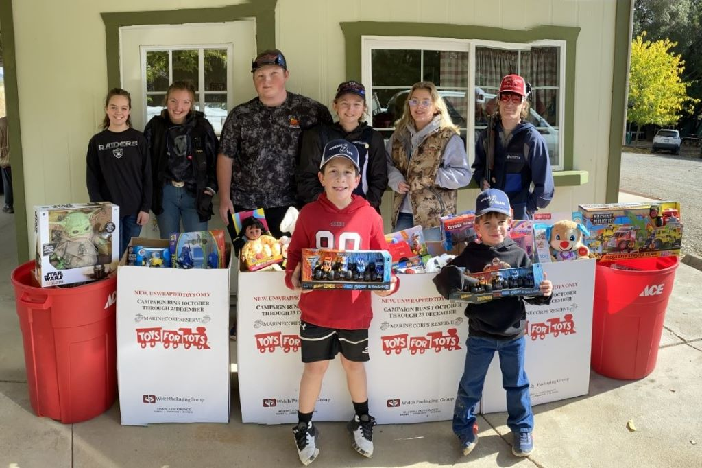Toys collected at Ukiah Toys for Tots Shoot